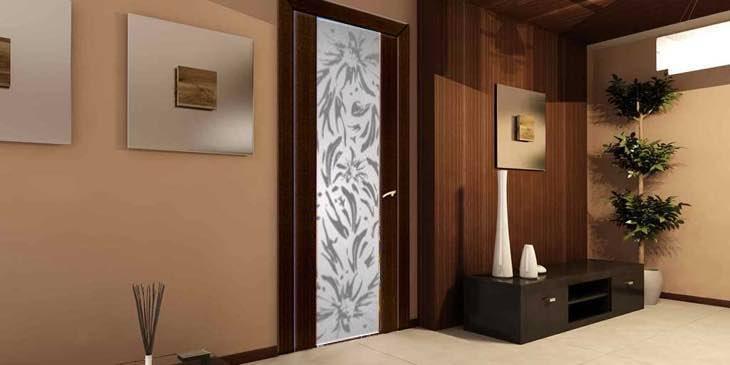 Стеклянные межкомнатные двери с рисунком